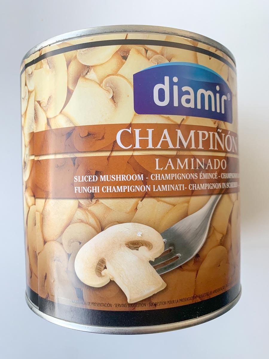 Šampinjoni lõigud soolvees 2,5kg, DIAMIR/MAAKODU