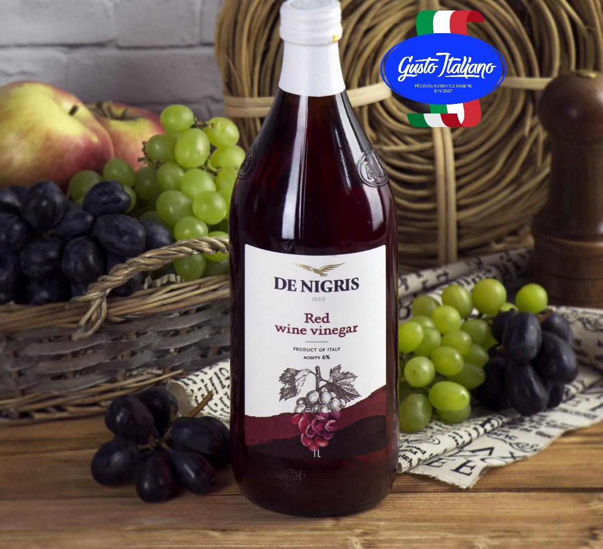 Äädikas punase veini 6% 1L DE NIGRIS