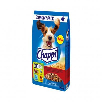 Koera kuivtoit looma- ja linnulihaga 9kg CHAPPI