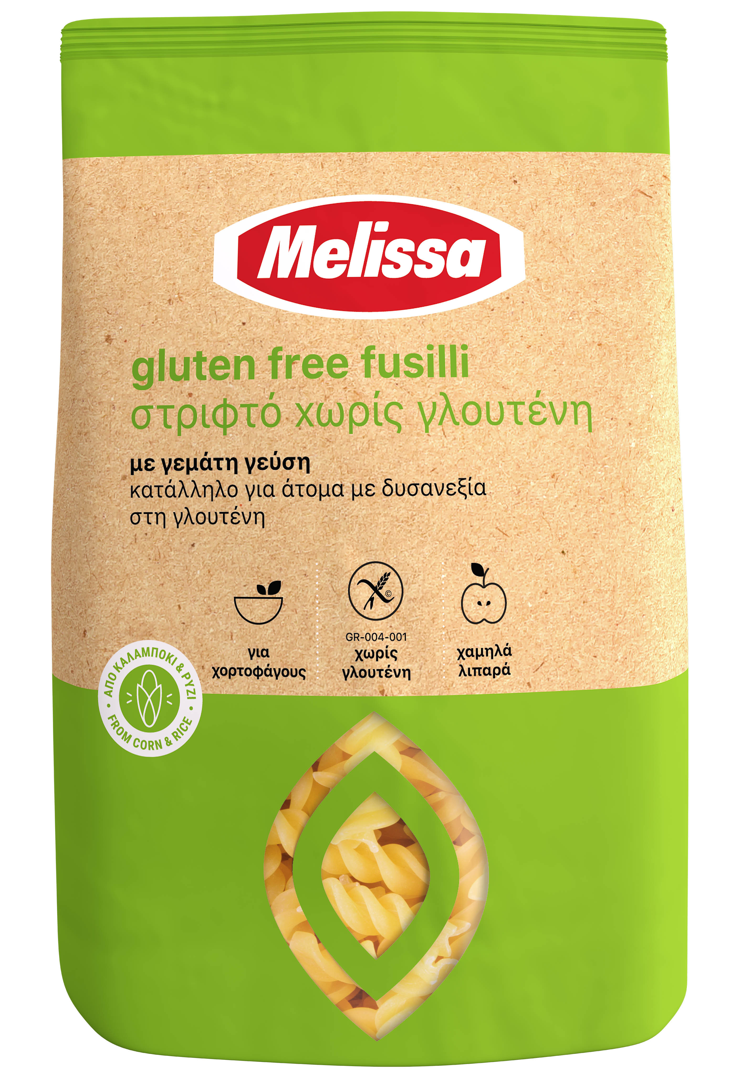 Pasta Fusilli gluteiinivaba 400g MELISSA/AL DENTE
