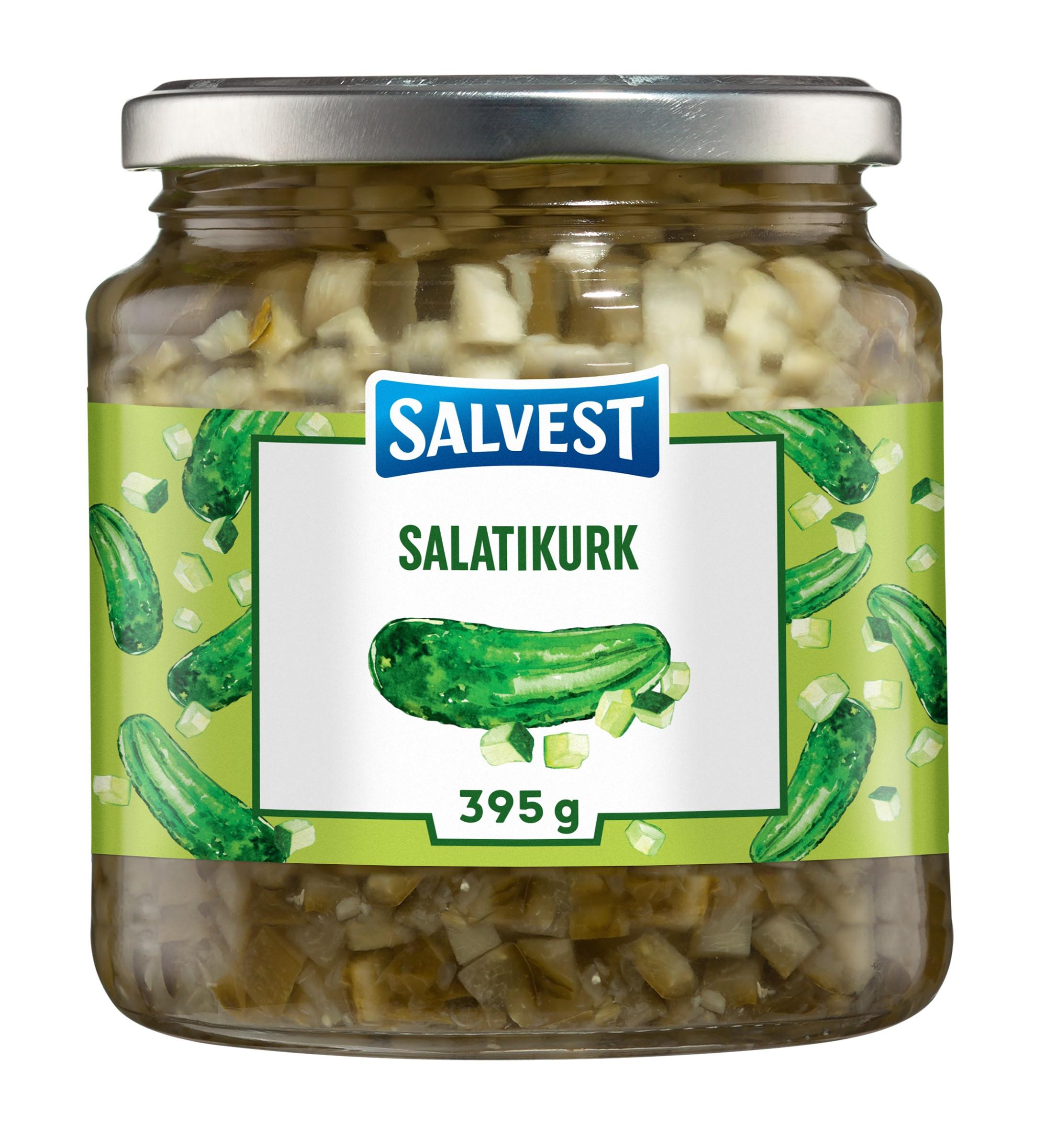 Kurk salati (kuubikud) 395g SALVEST