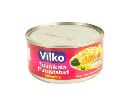 Tuunikala purustatud taimeõlis 185g Vilko