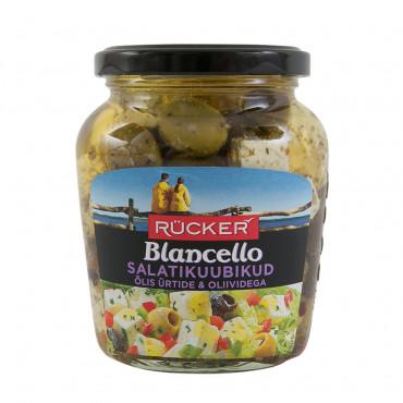 Valge juustu kuubikud õlis oliividega 300g RÜCKER