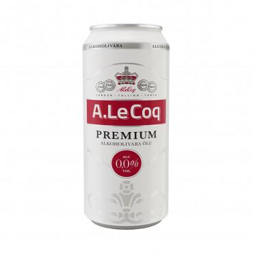 Õlu Premium alkoholivaba purk 0,5L A.Le Coq