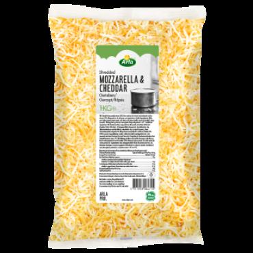Mozzarella- Cheddari riivjuust mix 1kg ARLA PRO