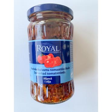 PÄIKESEKUIVATATUD tomati viilud õlis 330g, ROYAL
