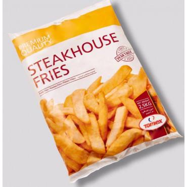 Friikartulid Steakhouse, lai, külmutatud 2,5kg, Tomex