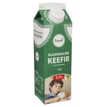 Keefir pure 2,5% 1L Farmi