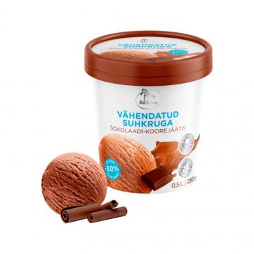 Šhokolaadi jäätis vähendatud suhkruga laktoosivaba 0,5L Balbiino