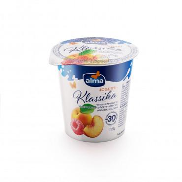 Virsiku-aprikoosi-vaarika jogurt 2% 125g, ALMA