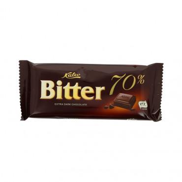 Shokolaad tume šokolaad 70% 100g Bitter KALEV