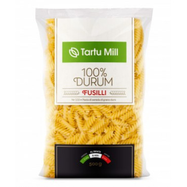 Pasta Fusilli 500g, TARTU MILL