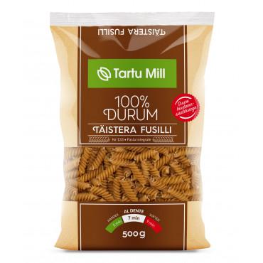 Pasta Fusilli täistera durum 500g TARTU MILL