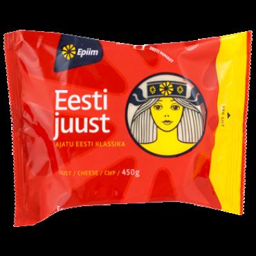 Eesti juust tükina 25,5% 450g, E-piim