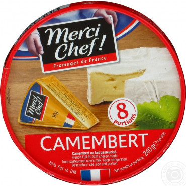 Valgehallitusjuust camembert Merci Chef 50% 125g