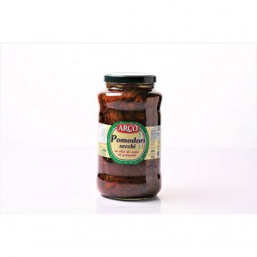 Päikesekuivatatud tomatid terved õlis 1550/850g Arco/Green