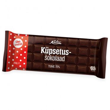 Küpsetusšhokolaad tume 70% 200g, KALEV