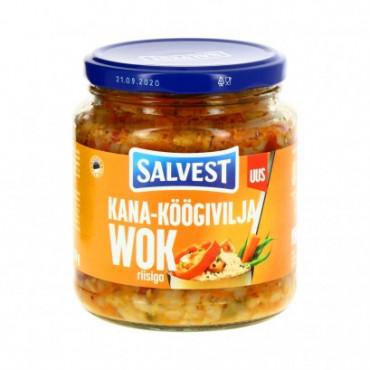 Kana-köögiviljawok riisiga 530g SALVEST