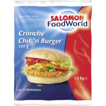 Hamburgeripihv kana CrunchyChik'n 10*135g/PK