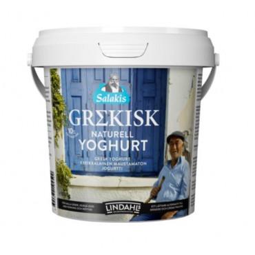 Kreeka jogurt grekisk naturell 10% 1kg, LINDAHLS