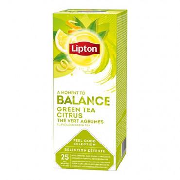 Roheline tee sidruniga 25*1,3g (fooliumi), LIPTON