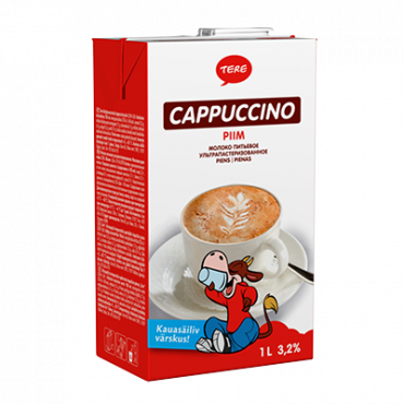 Piim cappuccino tetra 3,2% 1L , TERE
